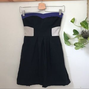 Urban Outfitters Strapless color block dress